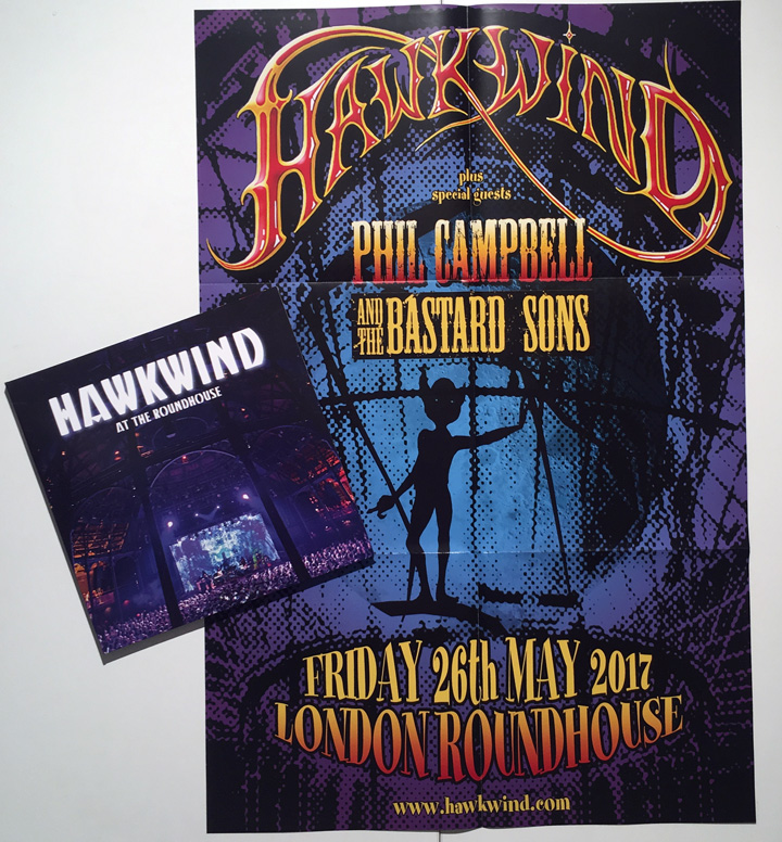 HAWKWIND / AT THE ROUNDHOUSE VINYL Poster