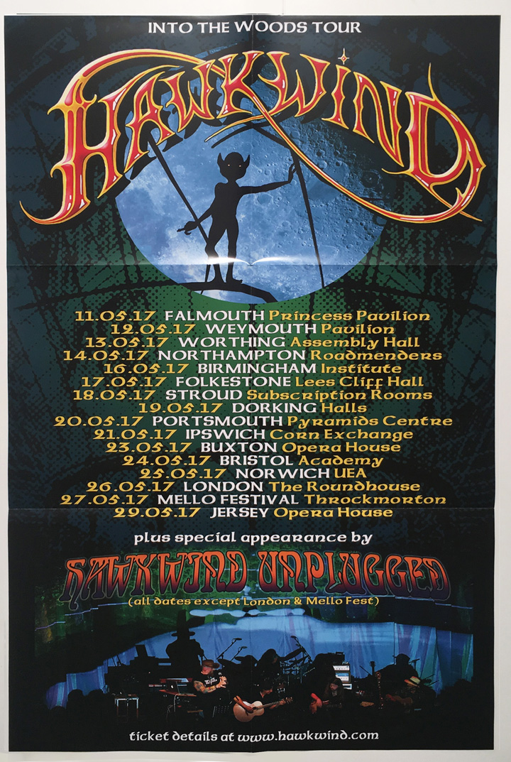 HAWKWIND AT THE ROUNDHOUSE Poster