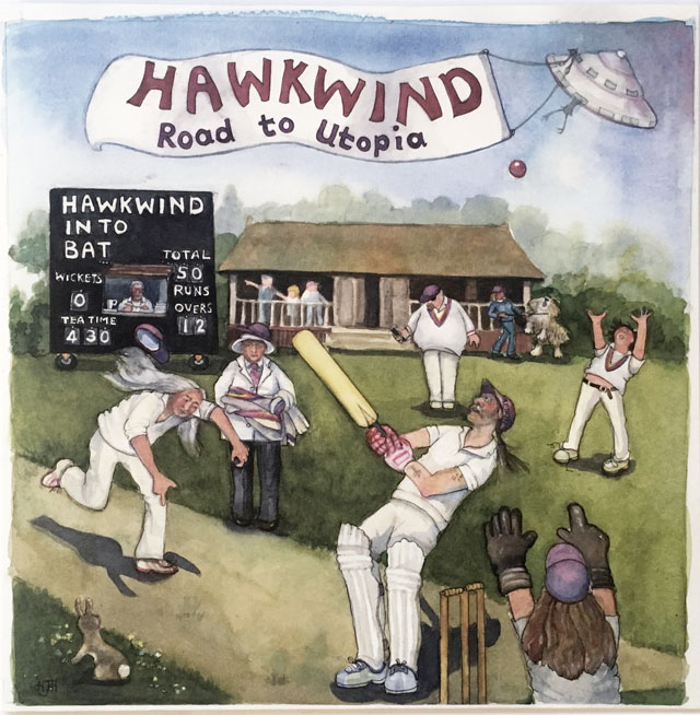 Hawkwind-Road To Utopia LP cover