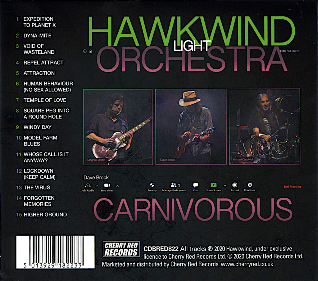 HAWKWIND LIGHT ORCHESTRA / CARNIVOROUS