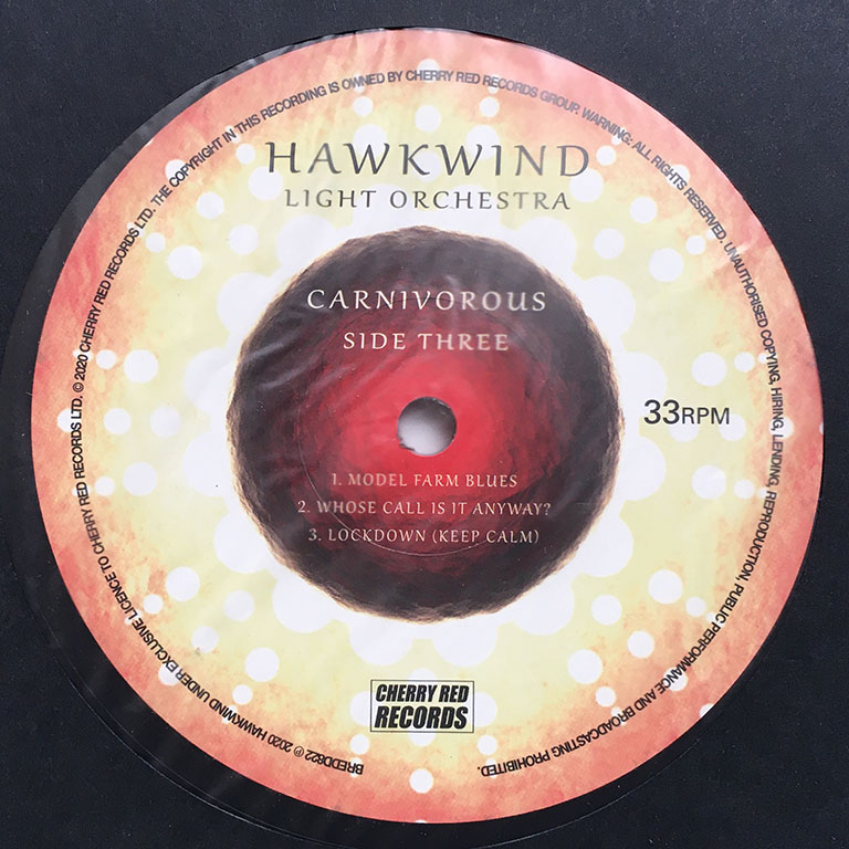 HAWKWIND LIGHT ORCHESTRA / CARNIVOROUS Vinyl -Side Three